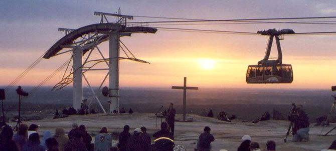 Easter Sunrise Service at Stone Mountain Park outside of Atlanta, Georgia.