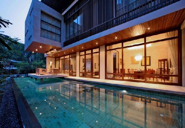 Pool outdoor-pool-house-designs-at-Luxury-Tropical-House-Design-and-lighting-ideas 27 Aweome Picture of Pool House Designs