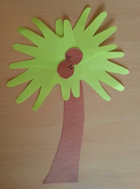 Toddler Palm Tree Beach Craft