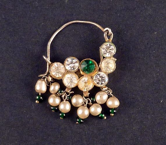 old indian ethnic nose ring