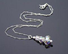 Bridesmaids Swarovski Crystal Pendant Necklace, Angel