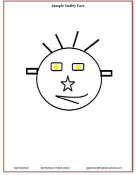 Smiley Face Following Directions Activity | Smiley Faces, Smileys and ...