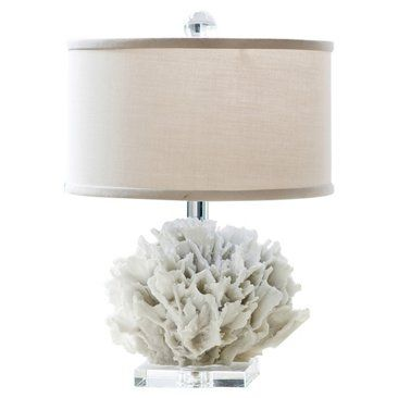 Check out this item at One Kings Lane! Ribbon Coral Lamp, Resin
