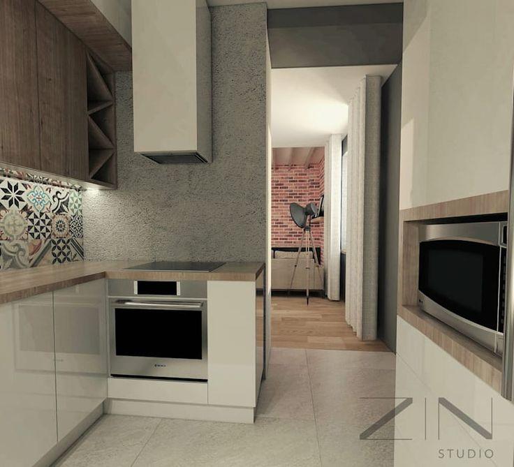 Projekt mieszkania: styl , w kategorii Kuchnia zaprojektowany przez ZIN Studio