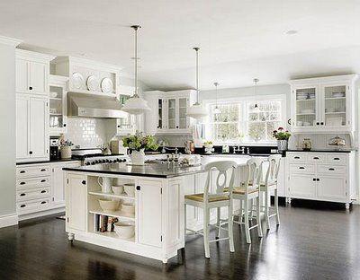 love  itKitchens Design, Dreams Kitchens, Kitchens Ideas, Dark Wood, Kitchens Cabinets, White Cabinets, Kitchen Designs, Dream Kitchens, White Kitchens