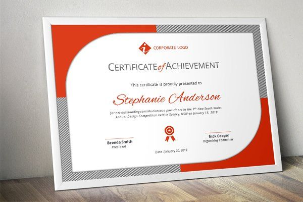 Modern certificate template (docx) - Stationery - 1