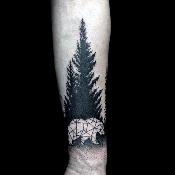 60 Geometric Bear Tattoo Designs For Men