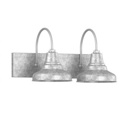 Bathroom Vanity Lights Industrial : Industrial Vanity Light Universal 2-Light Vanity Sconce Barn Style Bathroom Lighting ...