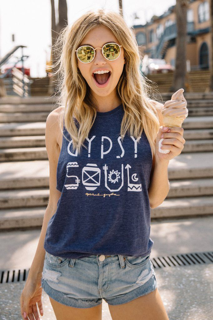 Be wild and free in our Gypsy Soul Coachella Tank. Made using a specialty  wash and our ultra soft burnout jersey with deep side openings.