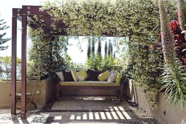 Star Jasmine pergola Modern Landscape by Landsberg Garden Design