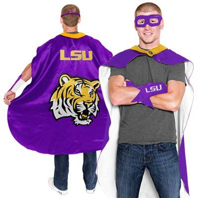 LSU Tigers Adult Superhero Costume - Purple  Hahaha! A MUST HAVE!