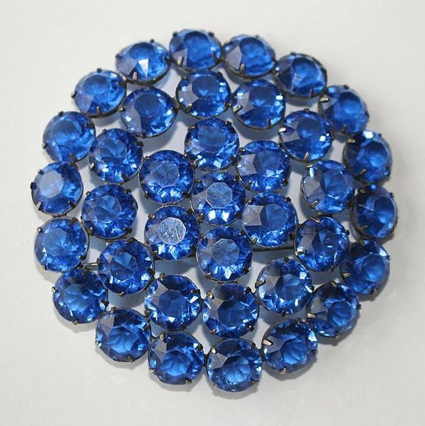 "#2875 Huge Blue Lucite Pin Brooch 3"" Exclusively at Lee Caplan Vintage Collection on RubyLane"