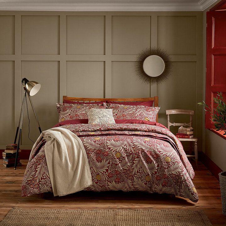 Morris Co Larkspur Duvet Set Crimson Red Double Fine Bedding Red Bedding Bed Decor