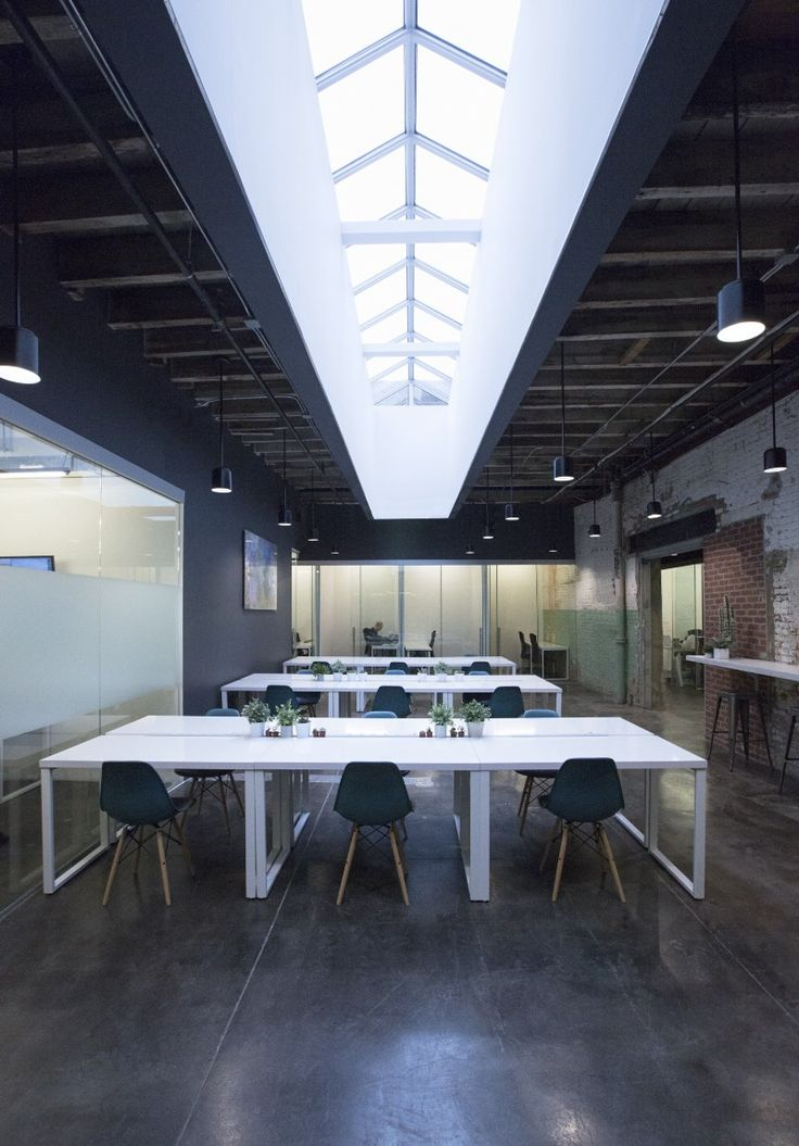 Leeser architecture transforms brooklyn factory into colourful co working space find this pin and more on interior design office