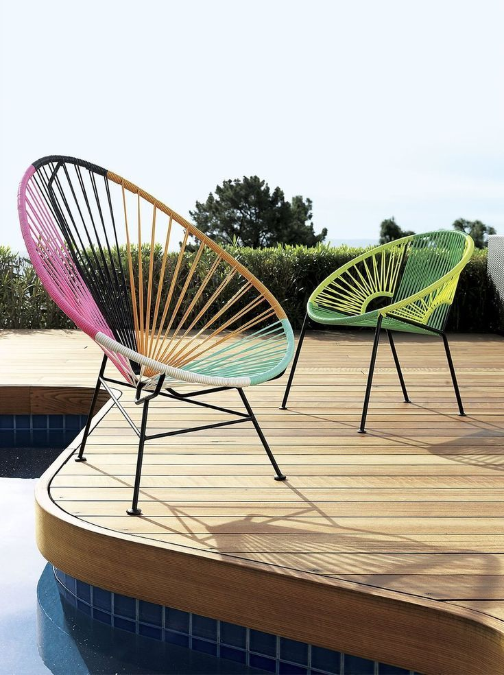 My fave ... the Acapulco chair.  Style on a Budget: 10 Sources for Good, Cheap Outdoor Furniture & Accessories