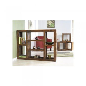 Rustic Modern 4 hole display unit Sheesham Wood?Bedroon And Living