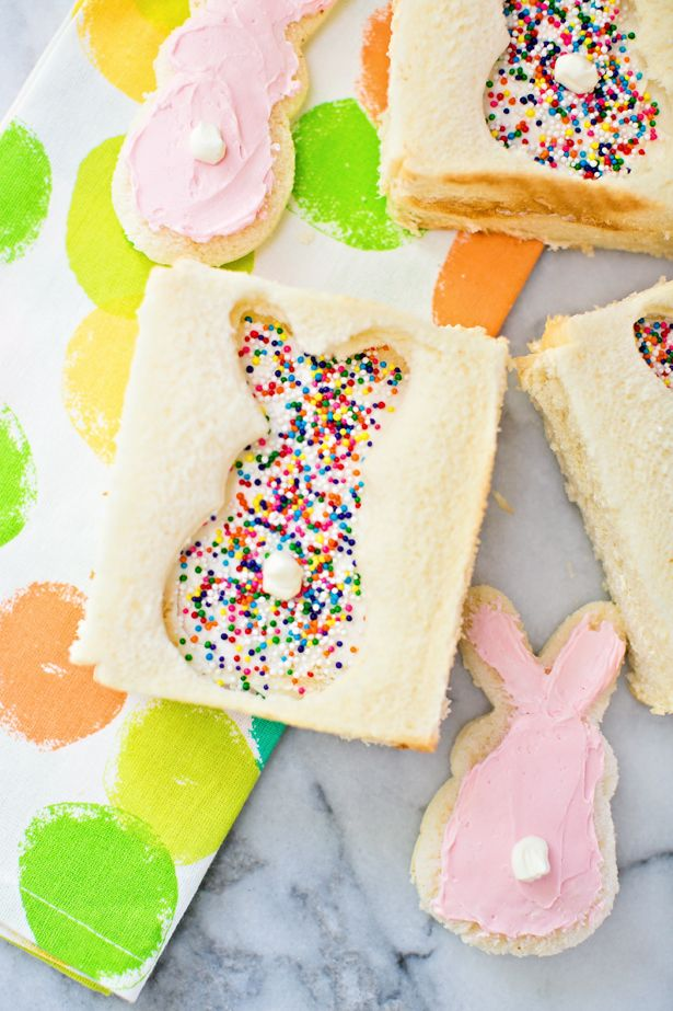 hello, Wonderful - BUNNY FAIRY BREAD: CUTE EASTER TREAT FOR KIDS