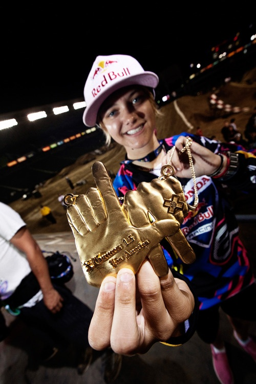 What's that sound? It's the roar of Ashley Fiolek's #motorcross bike as she leaves you in her dust. The only thing is, Ashley can't hear any of it. Born deaf, this blonde bomber is a two-time Women's Motocross Association champion and #XGames gold medalist. We love a woman who isn't afraid to get dirty on her way to the victory stand. #PUSHGIRLS | Mondays at 10P on #SundanceChannel https://www.facebook.com/PushGirls/app_382280995156622