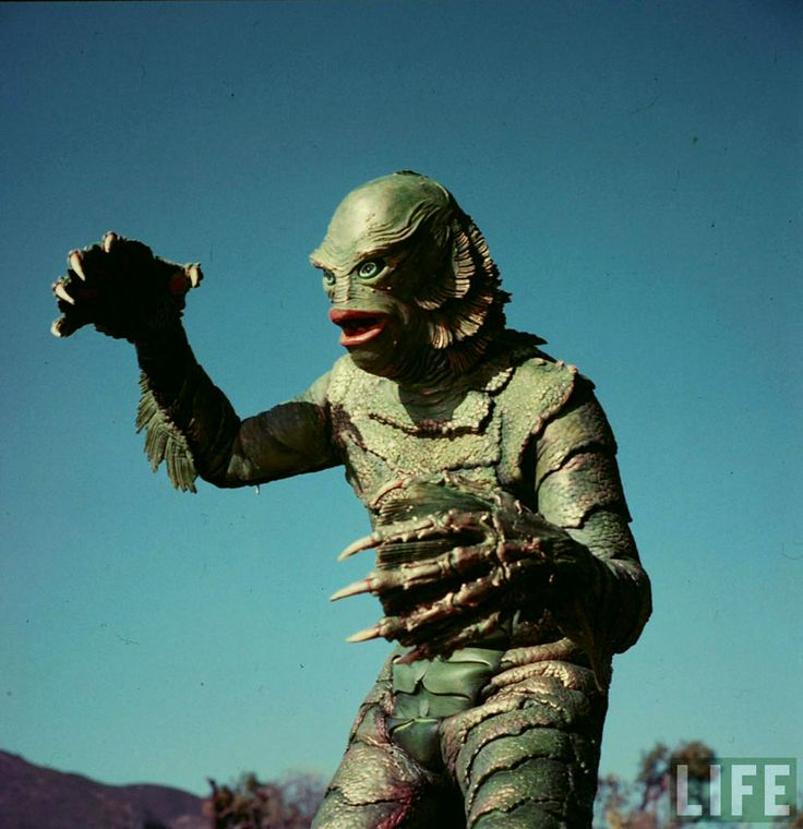 The Creature of the Black Lagoon from a Life color photo shoot.