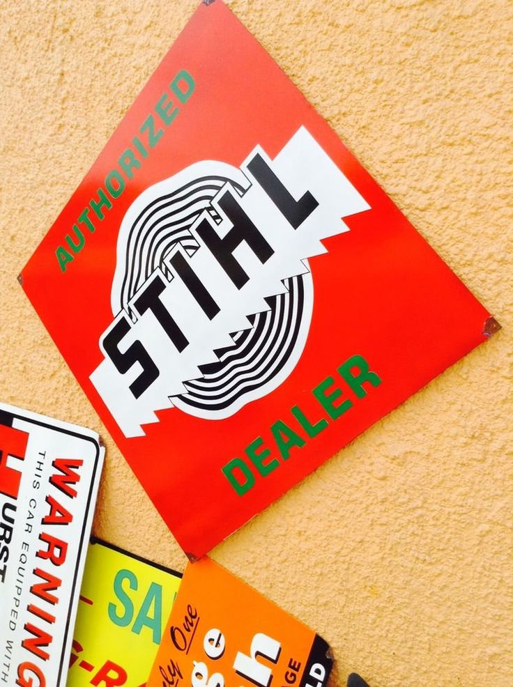 Vintage Stihl Chainsaw Sales Dealer Sign. Vintage Stihl Metal Chainsaw Sign   | eBay
