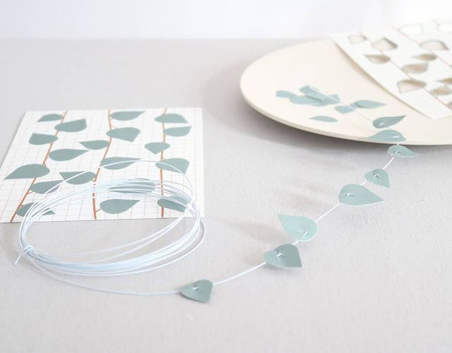 Decoration by Jurianne Matter - Twig Leaves - créations papier