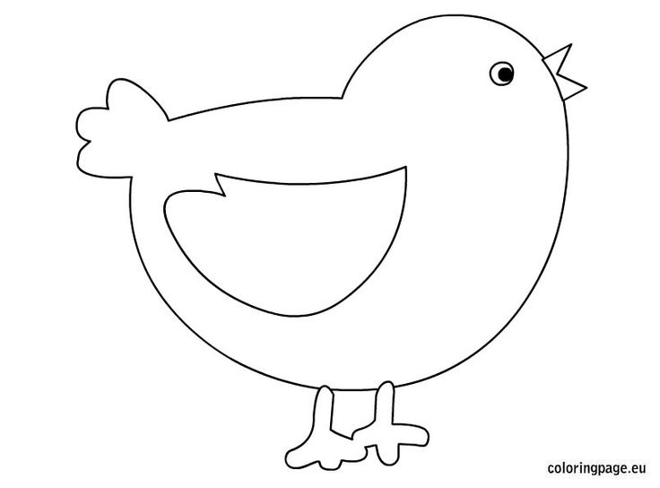 baby chick coloring page for kids