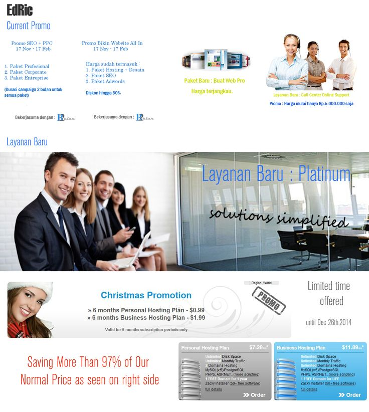 Current promo and new services such as Promo Hosting only USD 0.99, Integrated digital marketing services and more...