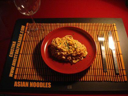 Asian Noodles Picantes con Crema de Cacahuete