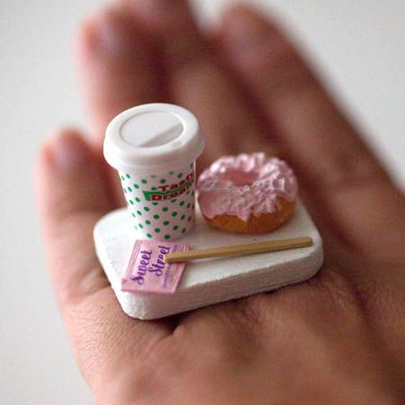 Kawaii Miniature Food Ring  To Go Combo  by fingerfooddelight