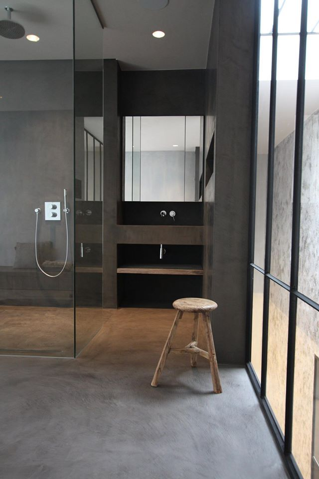 29 best Bathroom with Microtopping images on Pinterest Bathroom - moderne fliesenspiegel küche