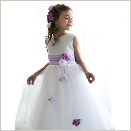 11 best flower girl dresses images on pinterest dresses for girls heather white tulle flower girl dress with lilac roses and sash from demigella mightylinksfo