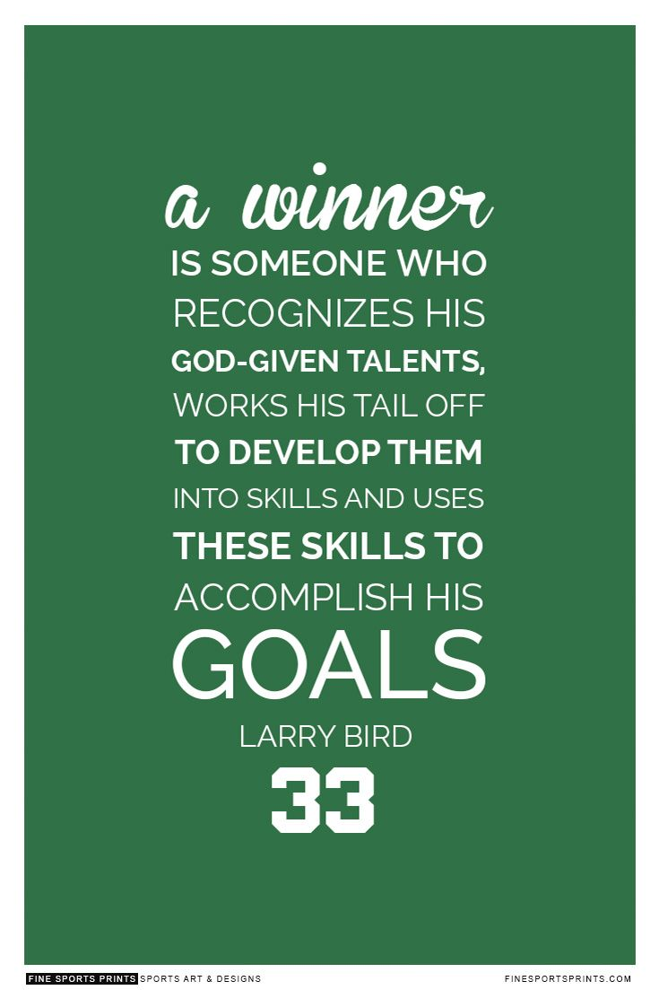 """""""Larry Bird Quote On Print. See More At Www"""