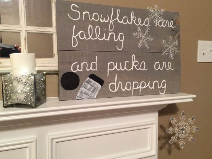 Made this Hockey season/winter sign