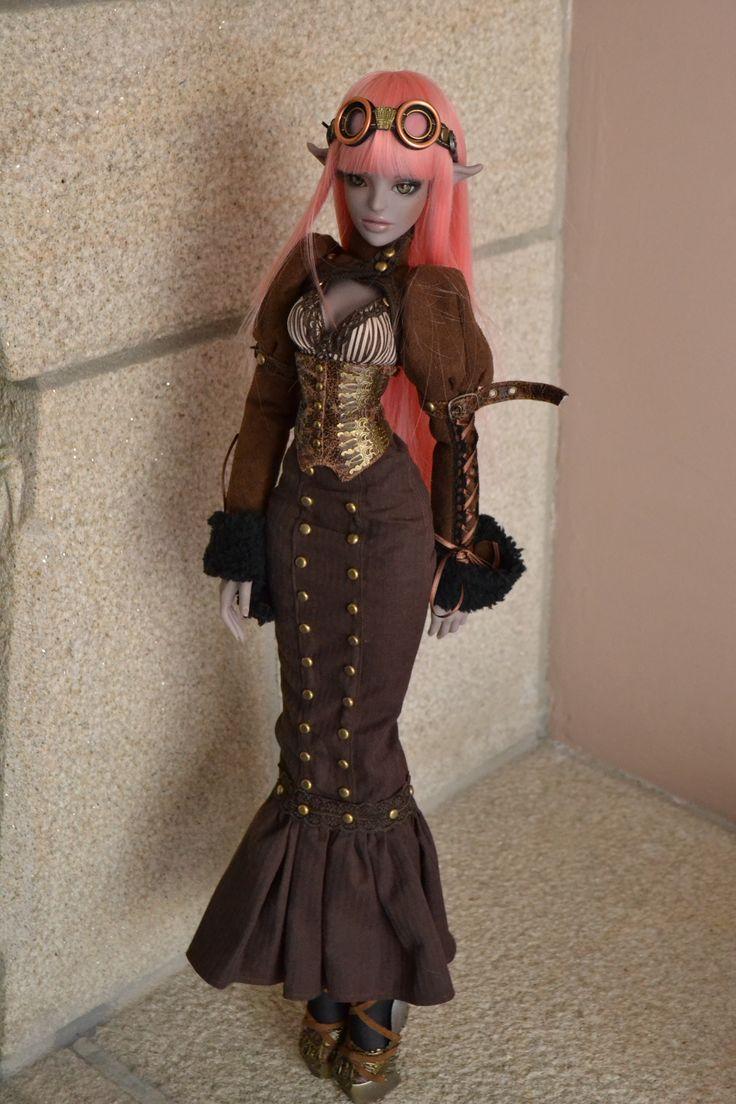 OOAK Ceyran Steampunk fullset for Ldoll. Fairytales Treasures Dolls - model: Ceyran (60cm - coming soon)