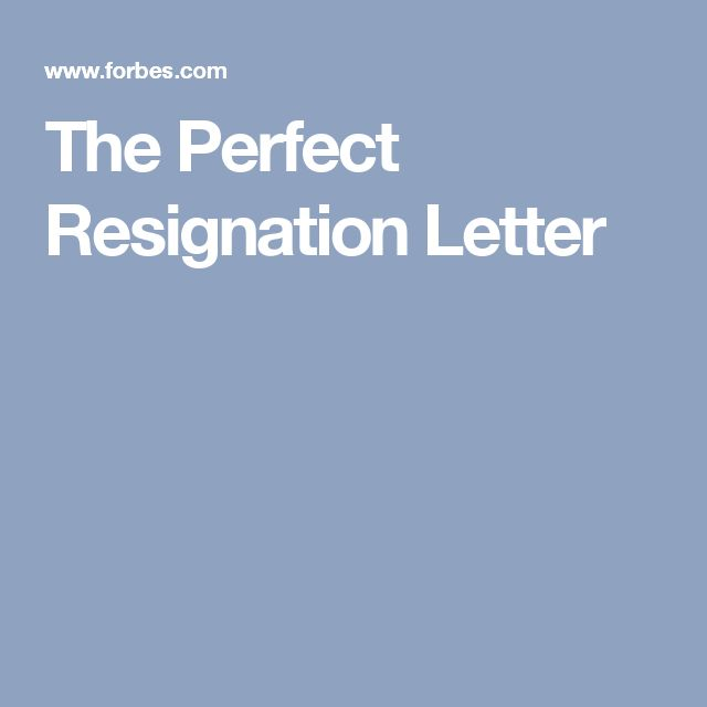 The Perfect Resignation Letter The o\u0027jays, Resignation letter and