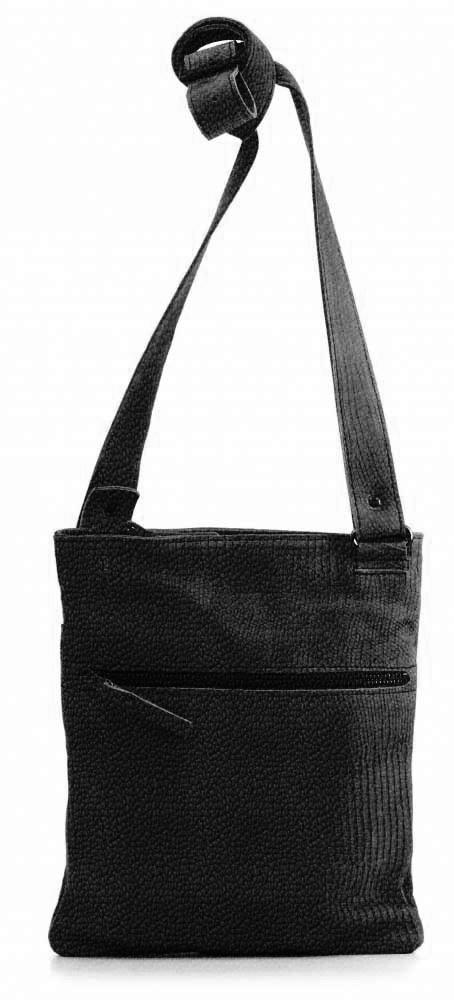 And 11, lederen damestas met verstelbare schouderriem, de tas sluit met een rits. Mogelijk in 35 verschillende kleuren leer