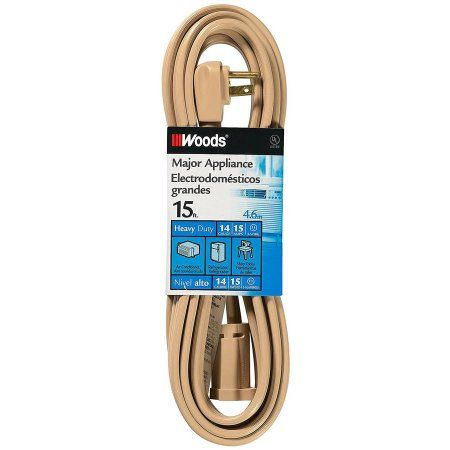 Woods 0047 15' Air Conditioner Appliance Cord, Beige