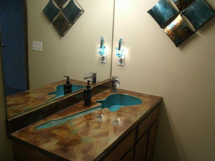 Bathroom Vanity Tops And Sinks   Castletech Inc | St Louis Concrete  Countertop Contractor314 517