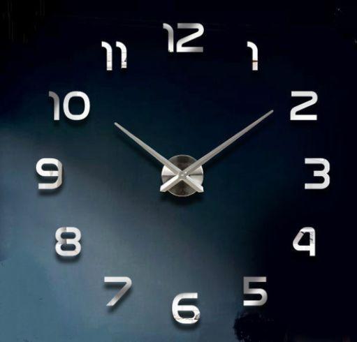 Tee-se-itse iso seinäkello. Tällä suurella kellolla saat seinällesi näyttävyyttä. Kello sommiteltavissa haluttuun kokoon välillä 70 - 130cm (halkaisija).  Kellon osat ovat tiivistä vaahtomuovia, pintaan kiinnitetään krominen tarra. Kello toimii yhdellä AA-paristolla (HUOM! Paristo ei sisälly pakkaukseen!). Pakkaus sisältää kaikki kellon osat, erillisiä liimoja ei tarvita.  Koko: Tuntiviisarin pituus 31,5cm, minuuttiviisarin pituus 39cm, koneiston halkaisija 12cm