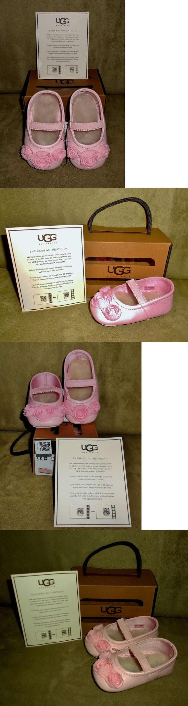 Infant Shoes: Ugg Infant Peony Pink Leather Shoes Size 2/3 New In Box BUY IT NOW ONLY: $32.99