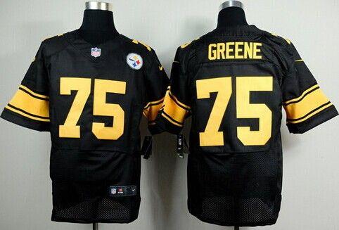 ... Nike Pittsburgh Steelers 75 Joe Greene Black With Yellow Elite Jersey  Pittsburgh Steelers jerseys Pinterest Pittsburgh ... e7b5859d1