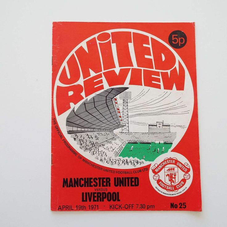 Vintage 1971 Manchester United Versus Liverpool Football Soccer Programme George Best Old Trafford by VintageBlackCatz on Etsy
