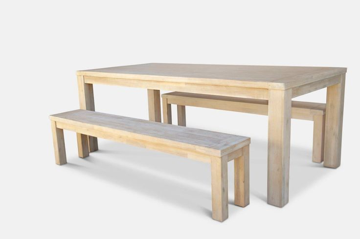 Madison Dining Table with 2 x Benches - END OF LINE from The Furniture Shack