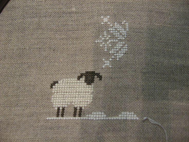 Cross stitch sheep   Cross-stitch update