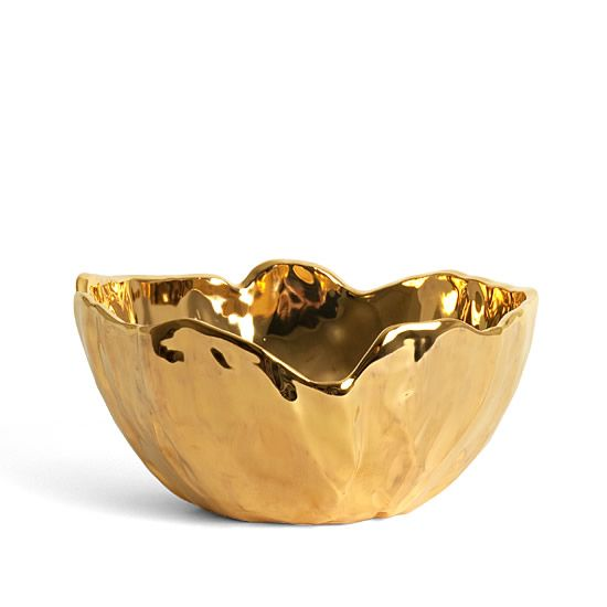 Gold bowl for your treats.