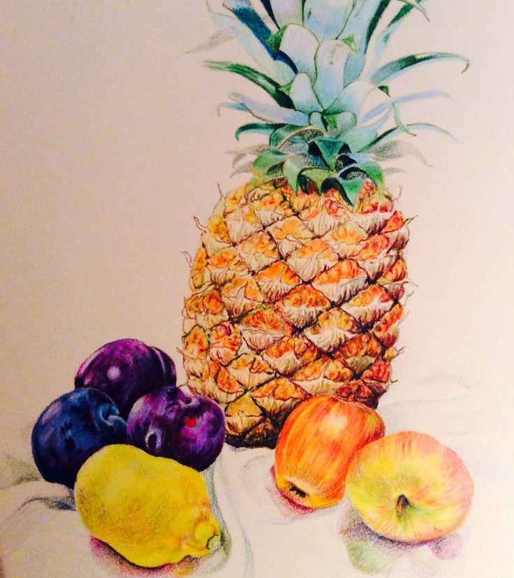 fruit splat fruit bowl drawing