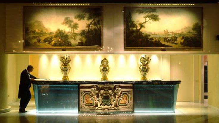Waldorf Astoria Rome Cavalieri hotel - Reception Desk Rome Hotel Interior Designs