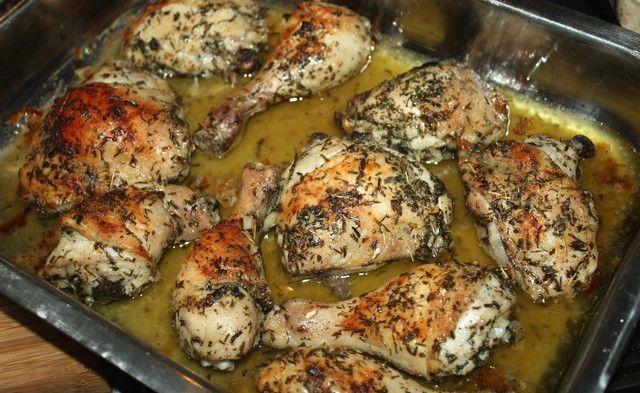 Запеченная курица с эстрагоном 3