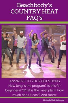Is Beachbody's new workout Country Heat right for you? Check out these FAQ's. Country Heat is a high-energy, low-impact, country dance-inspired fitness program that so totally fires up the fun—you won't even feel like you're working out! Autumn Calabrese designed the workout for everyone - beginners and non-dancers alike. Answers to your questions: How long are the workouts? How much does Country Heat cost? When will Country Heat be released? What is the meal plan? And more!