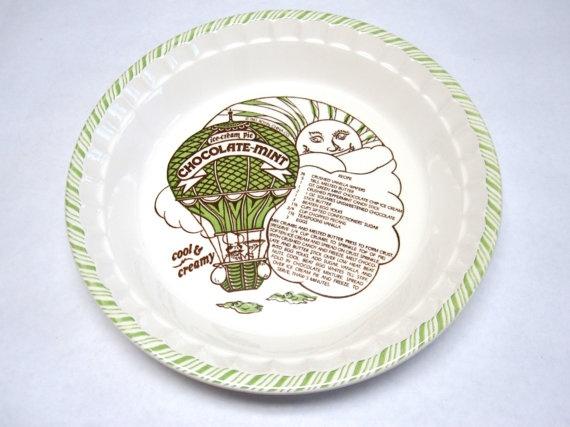 Chocolate Mint Pie Plate